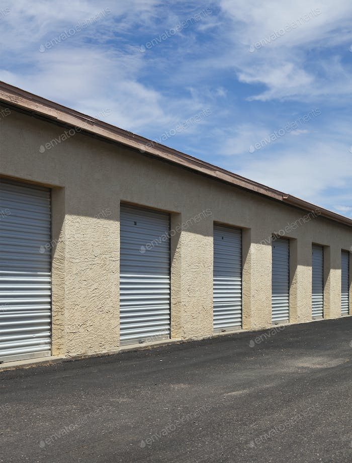 Commercial Storage Facility building with a row of doors