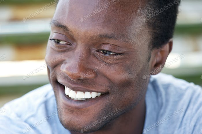 Happy african american man with a beautiful smile