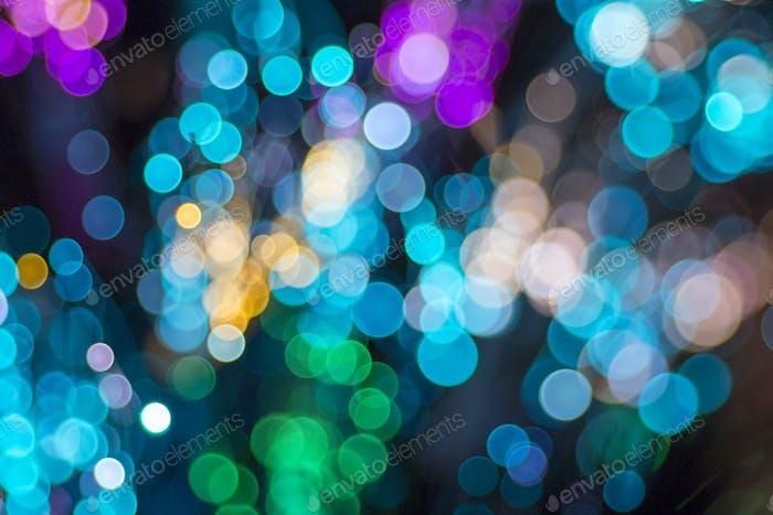 Farbige defokussierte Lichter Hintergrund.