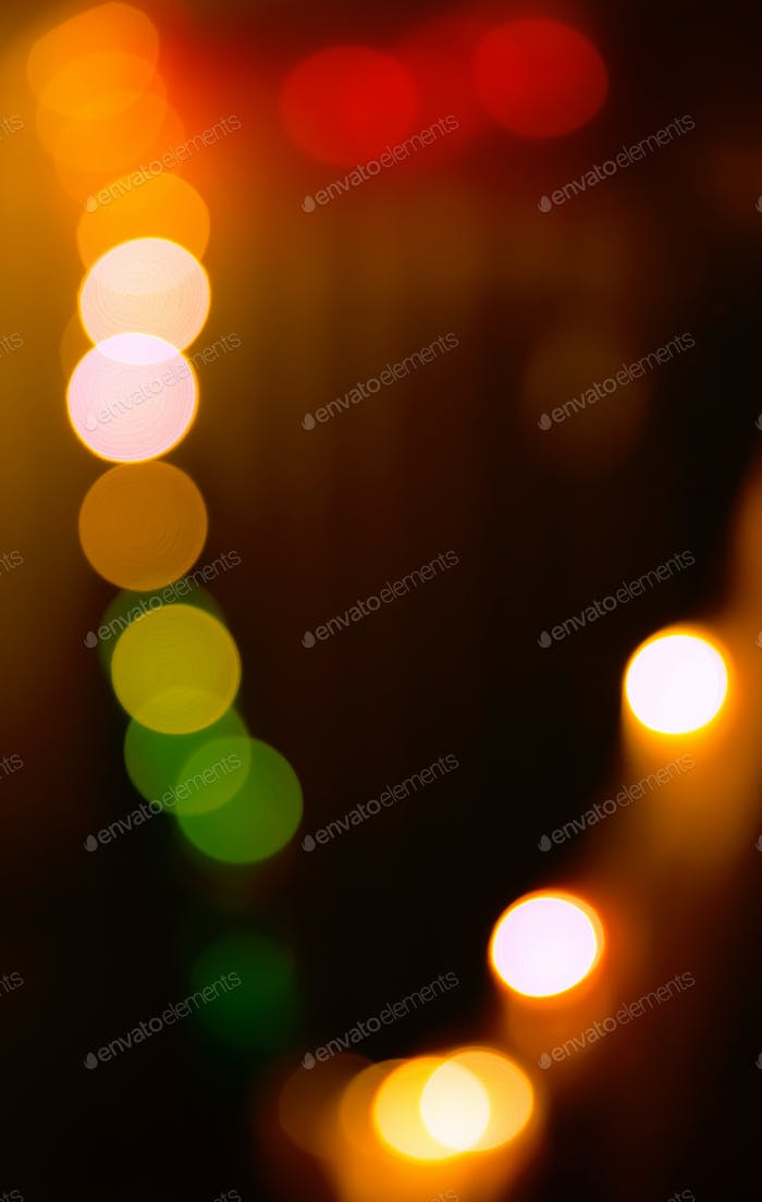 Circular bokeh lights background in vibrant colors