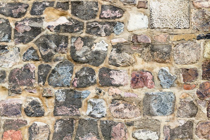 texture of cobble stone wall