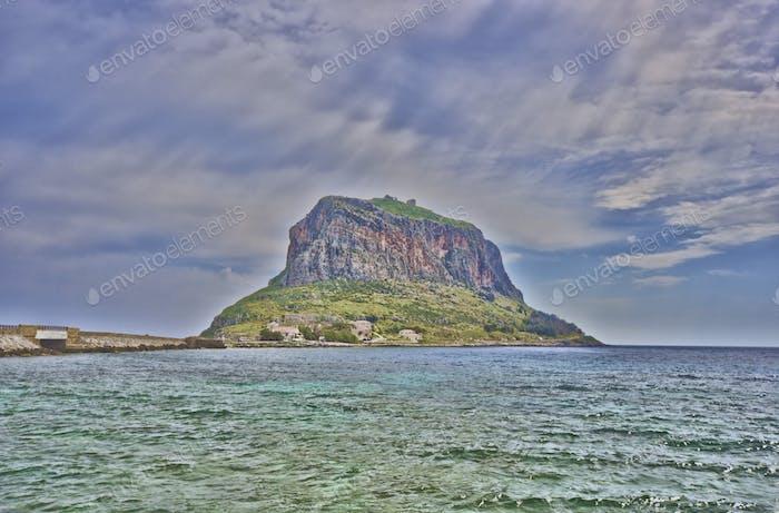 Island of Monemvasia in Greece