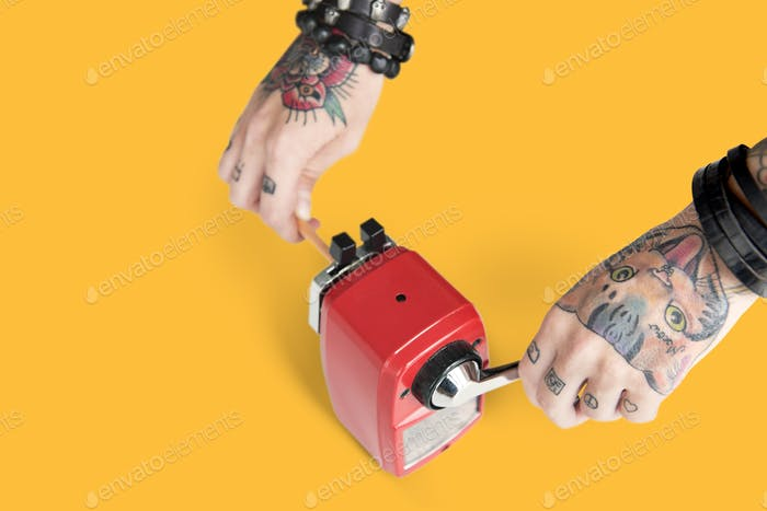 Татуировка Карандаш Точилка Графит питания Tool Concept