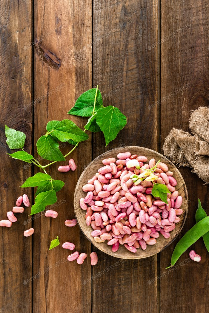 Red kidney beans. Haricot bean