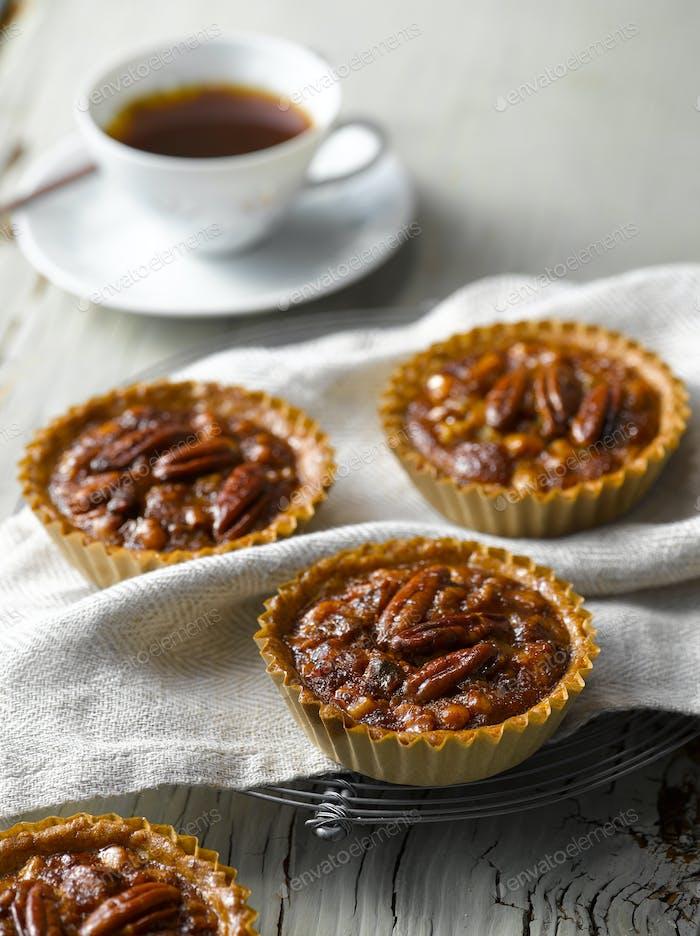 Walnut Pecan Pie Close Up