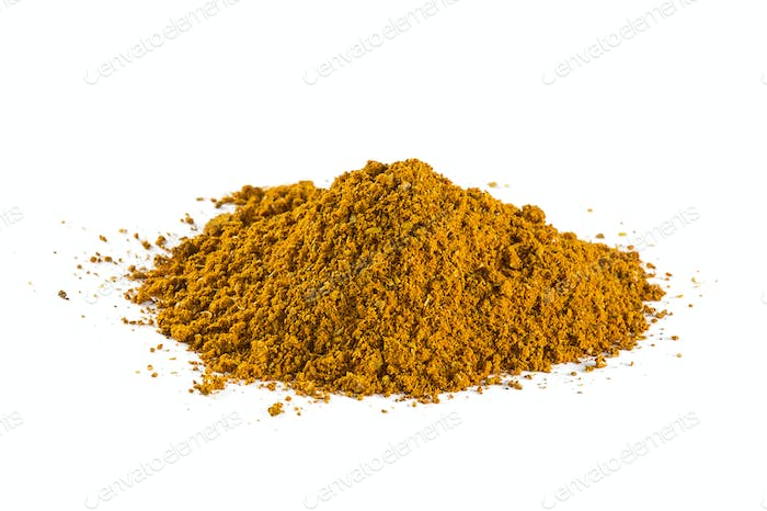 Curry spice background