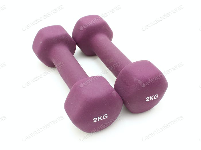 Two two kilogram dumbbells