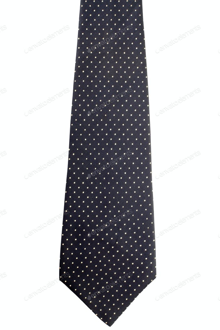 Tie or necktie on white, clipping path