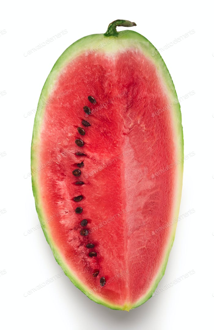 Big slice of red ripe juicy watermelon