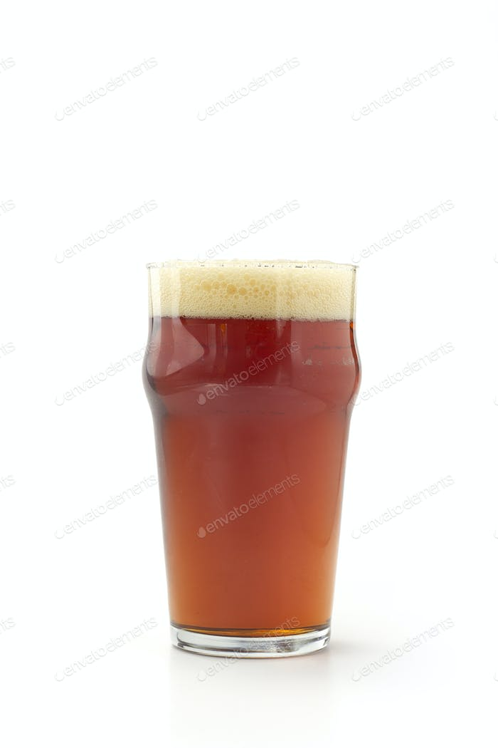 pint of red beer