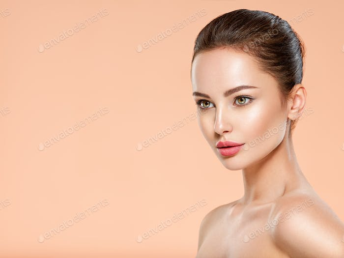 Beautiful face of young woman with health fresh skin.