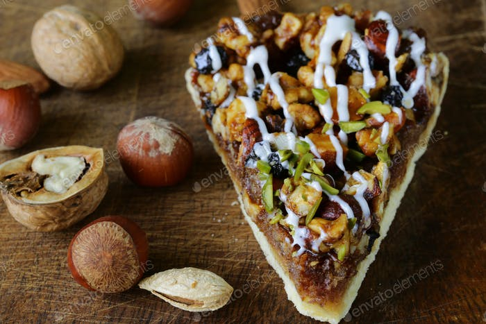 Piece Of Pecan Pie Tart