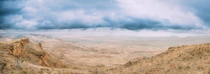 Gareja Desert, Kakheti Region, Georgia. Autumn Landscape Of Gare