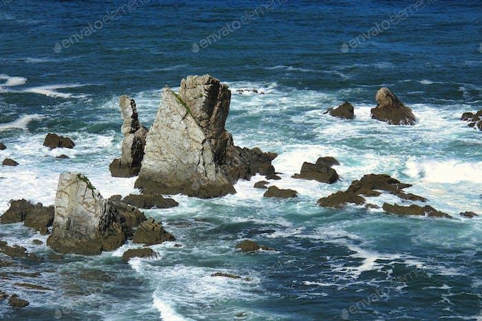 Cantabric Sea Clifs near the Silent Beach, Spain