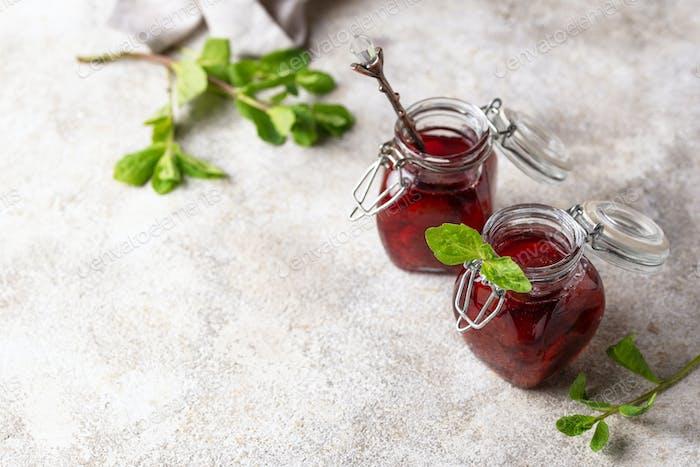 Thumbnail for Homemade strawberry jam in jar