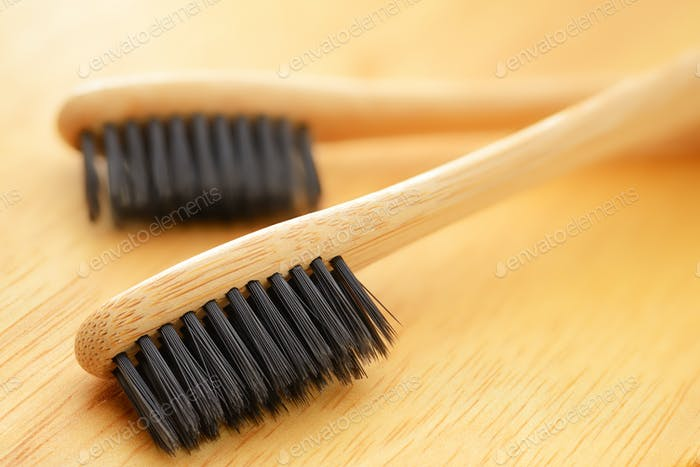 Wooden bamboo toothbrushes
