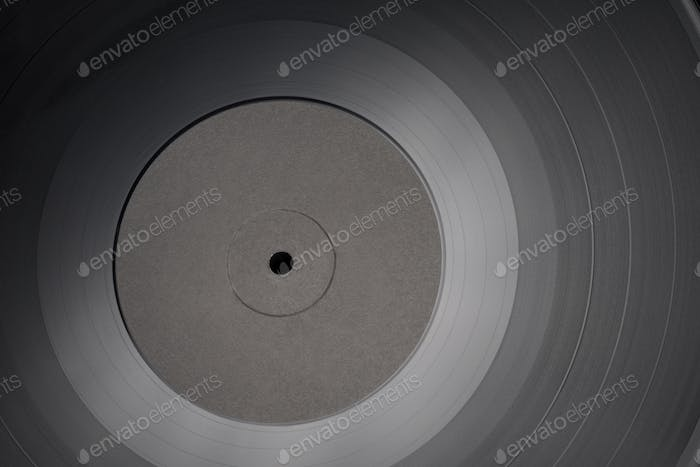 12-inch LP vinyl record with blank black label.
