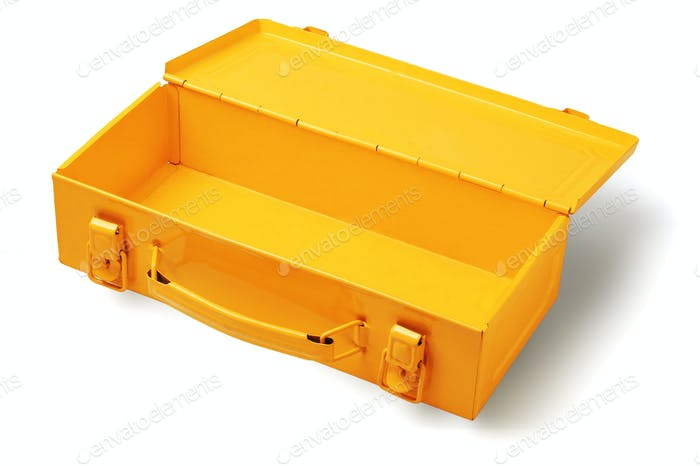 Empty Yellow Tool Box