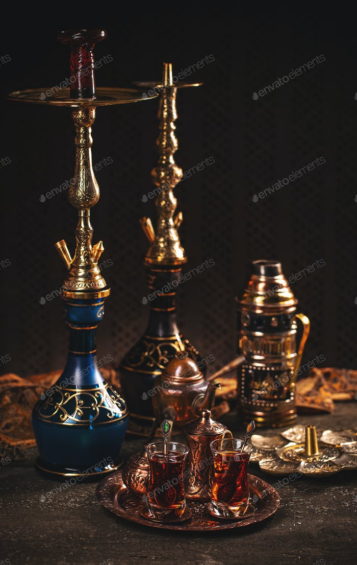 Turkish tea in traditional glasses