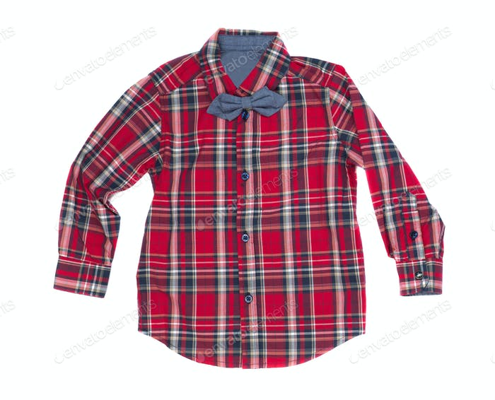 Red checkered shirt, isolate