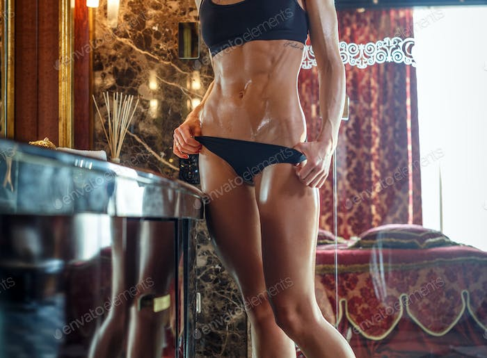 Fit female with beautiful body