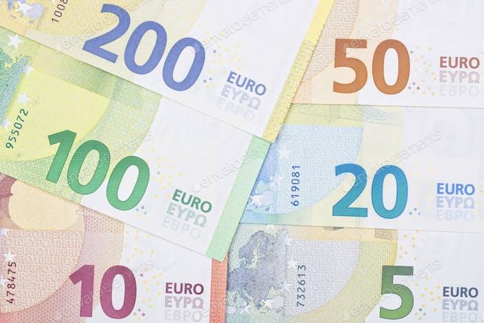 Neue Reihe von europäischen Geldern ein Hintergrund