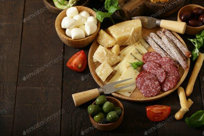Delicious Snacks and Antipasti