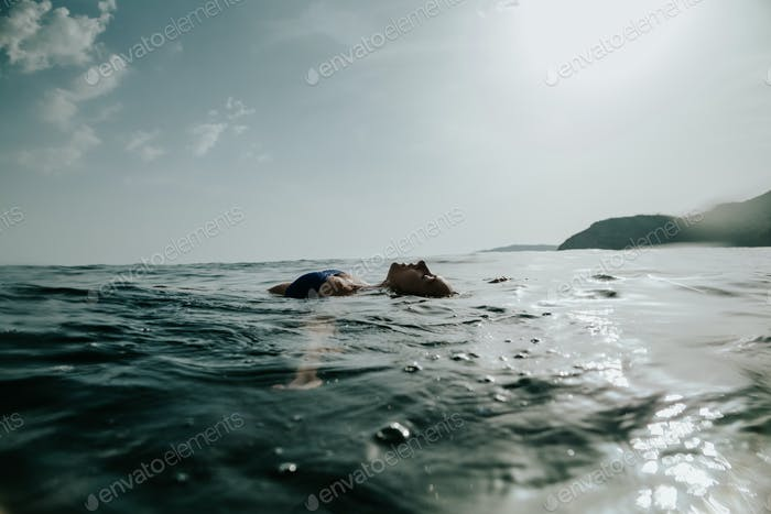 woman relax in sea
