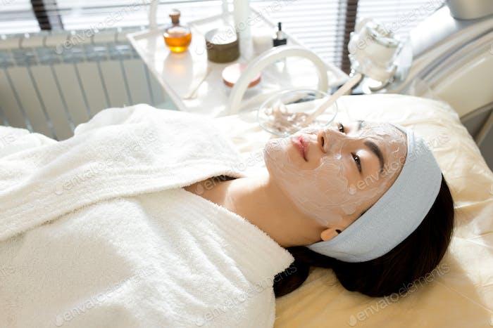 Asian Woman Enjoying SPA Treatment