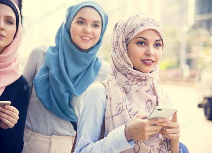 Group of islamic women friends