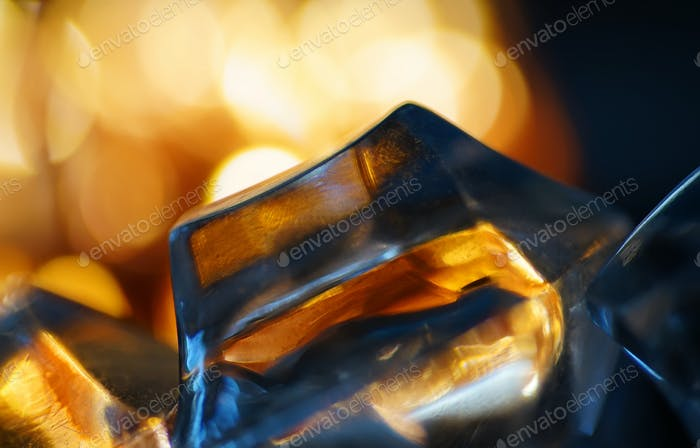 Abstract look of crystal and warm light
