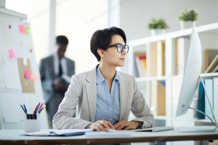 Modern Businesswoman at Workplace