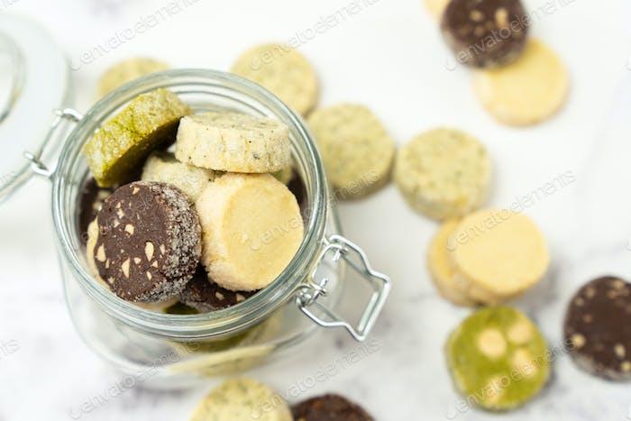 Verschiedene Aromen Französisch Diamant Cookies