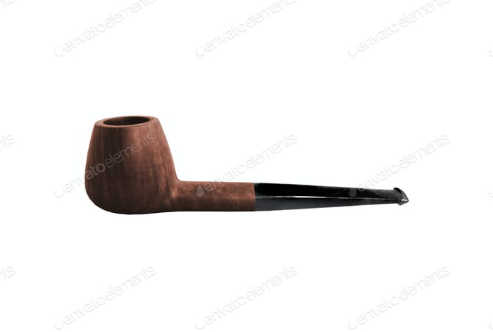 Tobacco pipe isolated