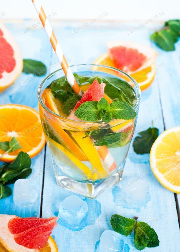 Ice citrus drink