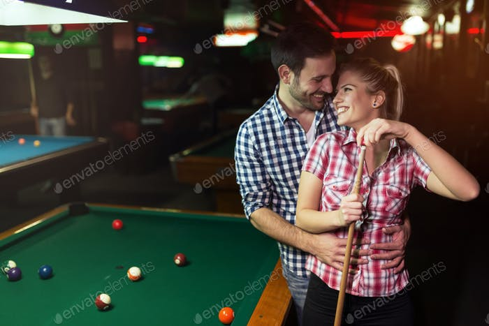 Couple dating and having fun