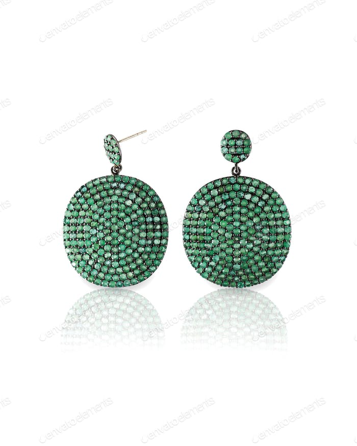 Emerald Green Peridot or jade Earrings