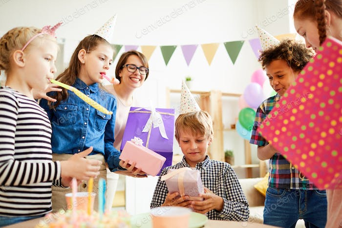 Gifts at Birthday Party