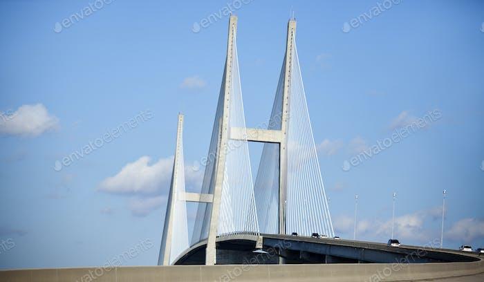 Sidney Lanier Bridge in Brunswick