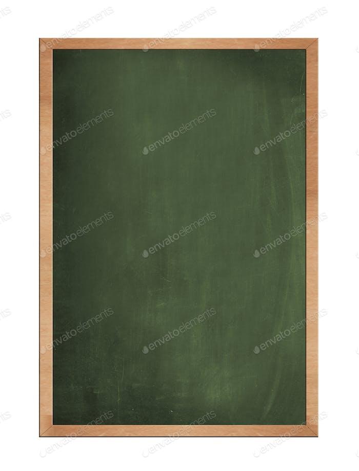 Blank old blackboard isolated on white background