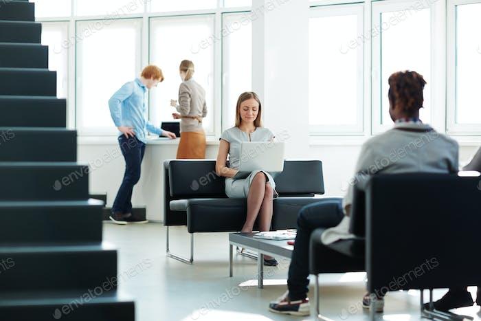 Employees in office
