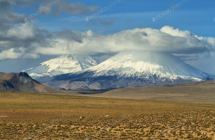 arinacota and Pomerape volcanoes