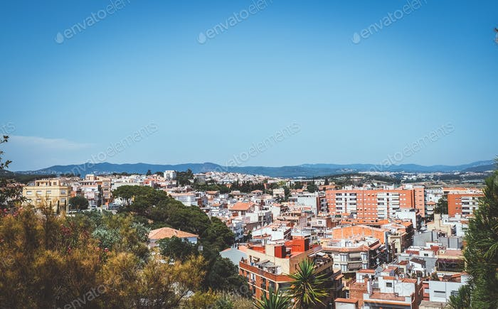 View of Malgrat del Mar, Spain