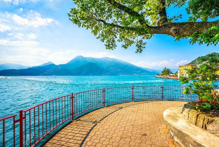 Varenna Walk of Lovers, Comer Lake Bezirk Landschaft. Italien, Eur