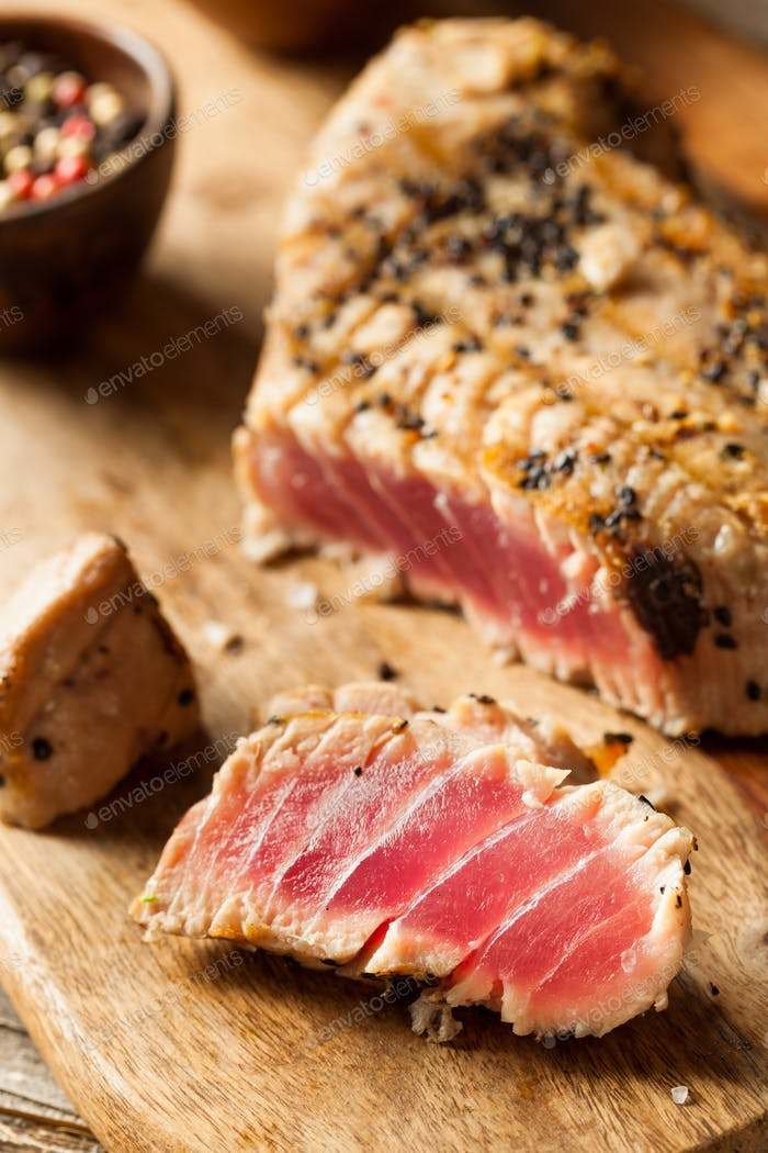 Homemade Grilled Sesame Tuna Steak