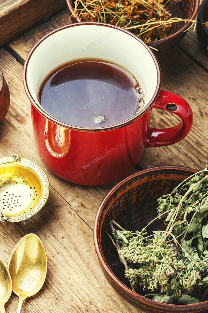 Tea on healing herbs.