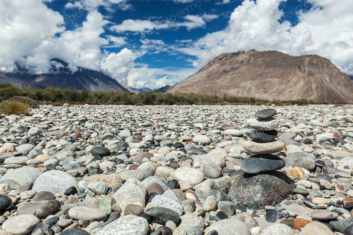 Zen balanced stones stack