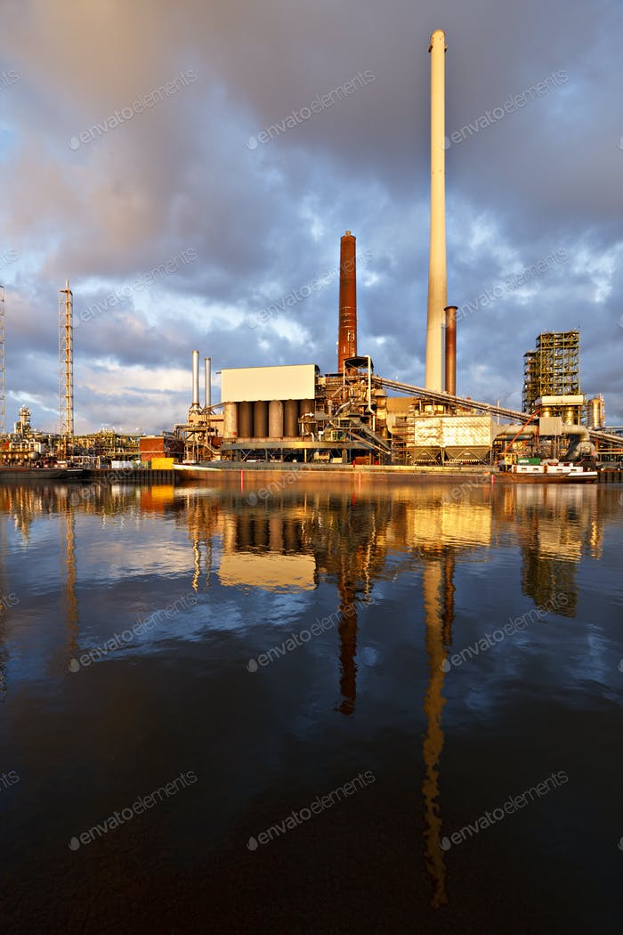 Refinery With Reflection