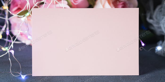 Valentine's day greeting card invitation