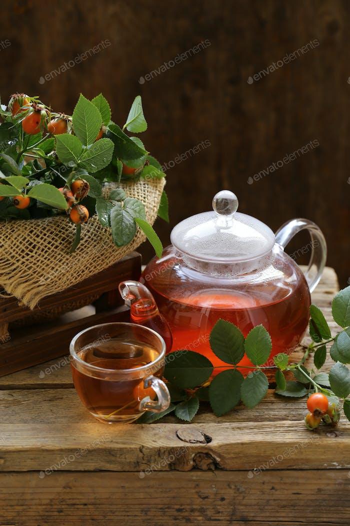 Beeren Hagebutte Tee